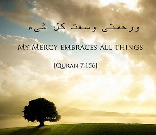 Beautiful Islamic Quotes - My mercy embraces all things | Quran 7:156