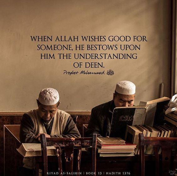 Prophet Muhammad Quotes - When Allah SWT wishes good for someone, He bestos upon him the understanding of Deen | Prophet Muhammad SAW