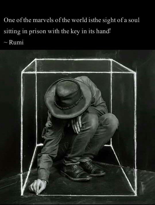 rumi quotes - One of the marvels of the world is the sight of a soul sitting in a prison with they key in its hand.