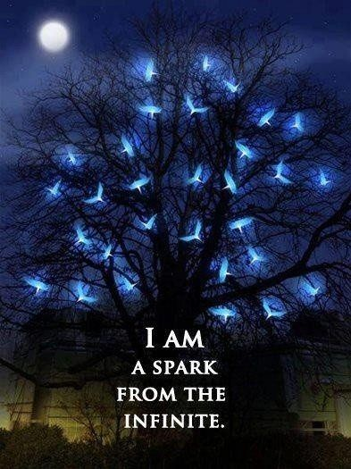 rumi quotes - I am the spark from the infinite.