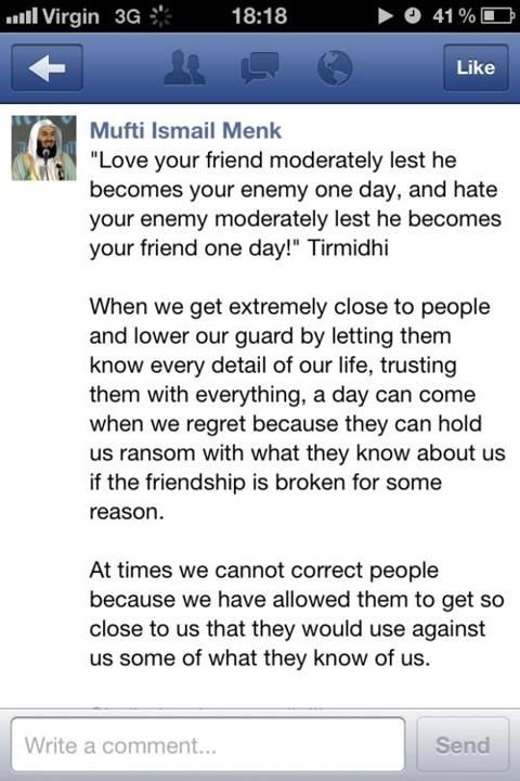 mufti ismail menk quotes about friends