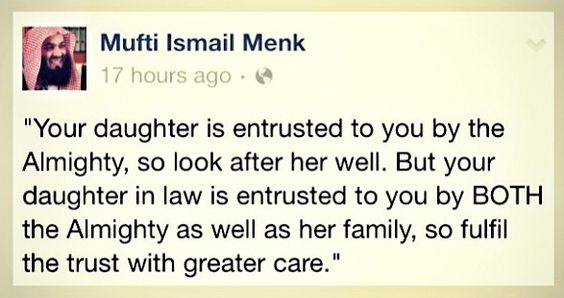 mufti menk quotes on inlaws